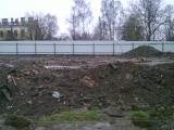 Забор из профнастила на  железобетонной ленте.